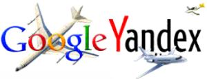 Популярные поисковые машины Google и Yandex