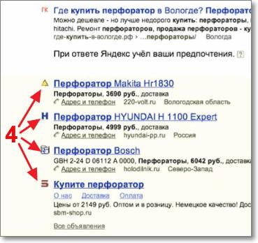 Места на гарантированные показы Яндекс Директ