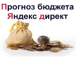 Делаем прогноз и расчет бюджета Яндекс Директ