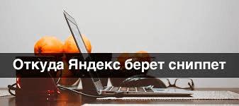 Как сделать сниппет для Яндекса в поисковой выдаче