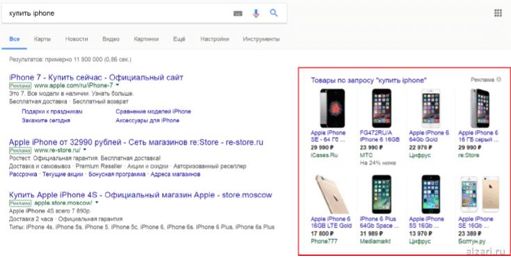 Что такое товарные объявления Adwords и как они выглядят на поиске Google