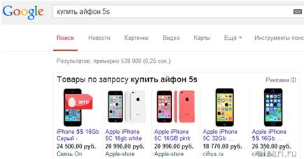 Что такое товарная реклама Гугл и как она выглядит в поиске