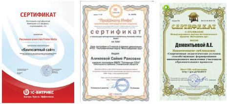 Сертификаты на сайте для брендинга среди людей и поисковых систем