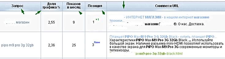 Сбор ключевых слов через платный сервис веб-аналитики Spywords