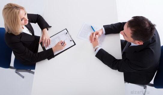 Бизнес интервью работника и нанимателя
