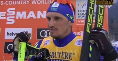 Блиц интервью лыжника после завершения гонки