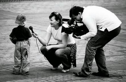 Видео интервью с ребенком на улице