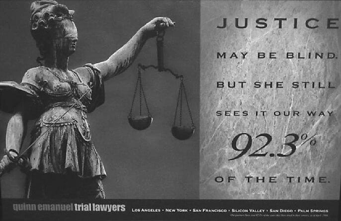 Пример рекламы адвокатской компании с доказательство данных