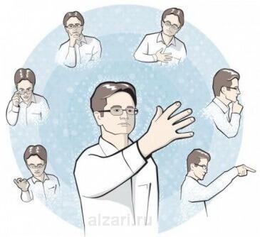 Язык мимики и жестов в риторике перед выступлением